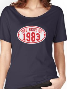 THE BEST OF 1983 2C Birthday T-Shirt Red/White Women's Relaxed Fit T-Shirt