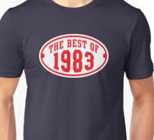 THE BEST OF 1983 2C Birthday T-Shirt Red/White Unisex T-Shirt