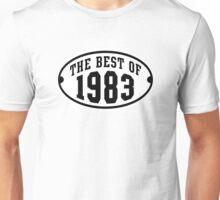 THE BEST OF 1983 2C Birthday T-Shirt Black/White Unisex T-Shirt