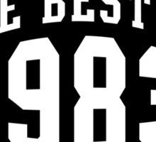THE BEST OF 1983 Birthday T-Shirt Black Sticker