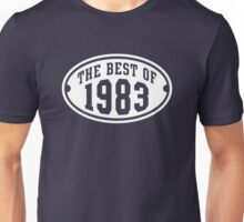 THE BEST OF 1983 Birthday T-Shirt White Unisex T-Shirt