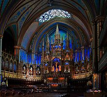 Notre-Dame Basilica of Montreal by Raoul Madden