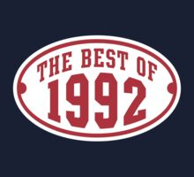 THE BEST OF 1992 2C Birthday T-Shirt Red/White by MILK-Lover