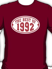 THE BEST OF 1992 2C Birthday T-Shirt Red/White T-Shirt