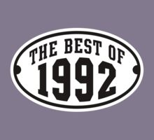 THE BEST OF 1992 2C Birthday T-Shirt Black/White by MILK-Lover