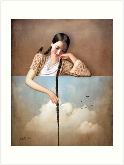 Touch The Sky (Rapunzel) by Catrin Welz-Stein