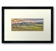 A Touch of Tuscany In The Snowy Mountains, Jingelic NSW/Walwa Victoria - The HDR Experience Framed Print