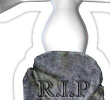 Cute Ghost Tombstone Halloween  Sticker