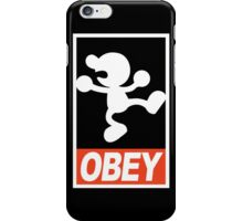 OBEY Mr. Game & Watch iPhone Case/Skin