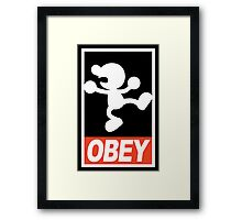 OBEY Mr. Game & Watch Framed Print