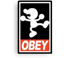 OBEY Mr. Game & Watch Canvas Print