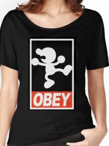 OBEY Mr. Game & Watch Women's Relaxed Fit T-Shirt