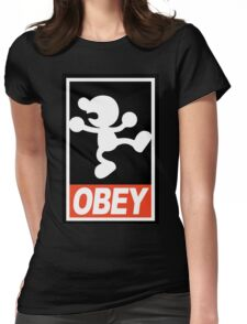 OBEY Mr. Game & Watch Womens Fitted T-Shirt