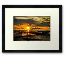 Sunset and Shadows Framed Print