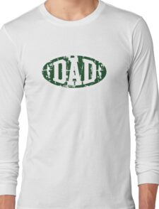DAD Vintage Design T-Shirt Green/White Long Sleeve T-Shirt