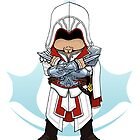 Assassin's Creed Brotherhood: Ezio Chibi: Animus Edition by SushiKittehs