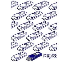Sherlock Minimalist poster-style Shirts and art-The Great Game, S1E3 Photographic Print