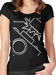 #icreate_camera Women's Fitted Scoop T-Shirt