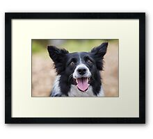 Smile like there's no tomorrow Framed Print