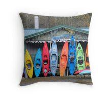 Kayak Morning Throw Pillow