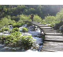 Bridge Over Plitvice Waters Photographic Print