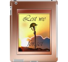 LEST WE FORGET iPAD CASE iPad Case/Skin