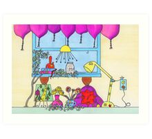 Little People on the Countertop Art Print