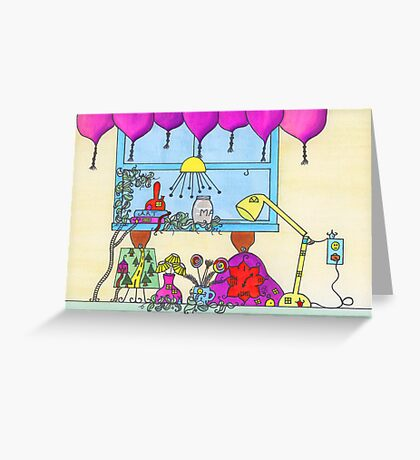 Little People on the Countertop Greeting Card