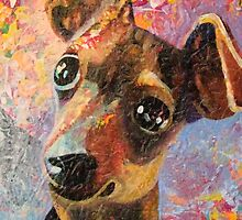 Mischief Maker  Happy Miniature Pinscher  by Nancy Daleo