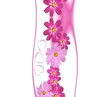 Hearts and Flowers iPhone iPod Case by wlartdesigns