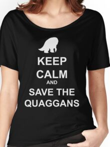 Keep Calm and save the quaggans Women's Relaxed Fit T-Shirt