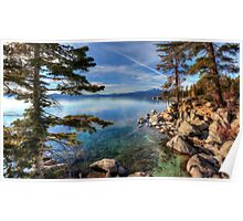 Lake Tahoe at Chimney Poster