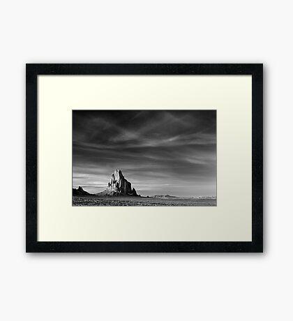 Shiprock, New Mexico Framed Print