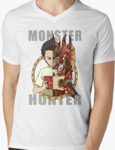 Monster Hunter Life Mens V-Neck T-Shirt
