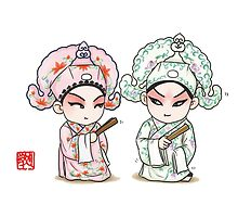 Chinese Opera Character - Liang and Zhu by NicePaintings
