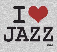 I love Jazz by WAMTEES