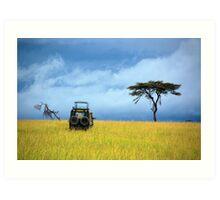 Masai Mara Game Drive  - Kenya Art Print