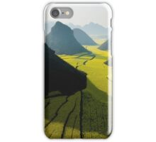 Grasslands With Mountains  iPhone Case/Skin