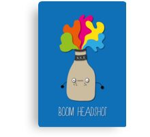 boom headshot Canvas Print