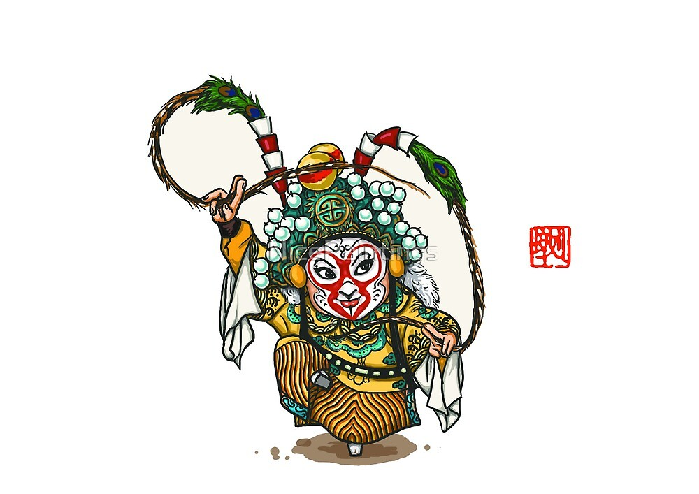 Chinese Opera Character - Sun Wukong by NicePaintings