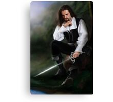Tuck [thinking about sword] Canvas Print