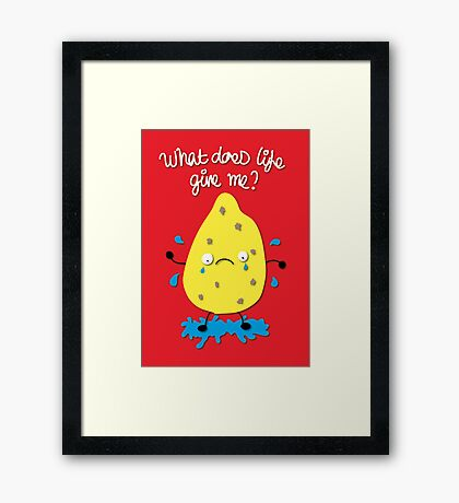Life and Lemons Framed Print