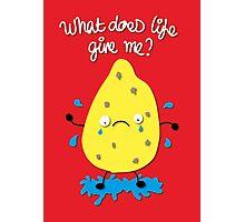 Life and Lemons Photographic Print
