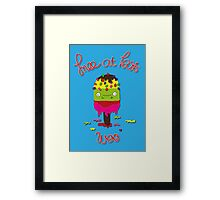 Ice lolly Framed Print