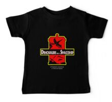 Dinosaurs on a Spaceship Baby Tee
