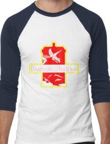 Dinosaurs on a Spaceship Men's Baseball ¾ T-Shirt