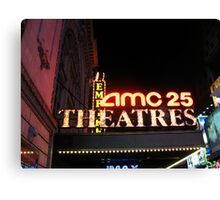 AMC 25 Cinema Theatre (formerly the Empire Theatre), 42nd Street, NYC, NY Canvas Print