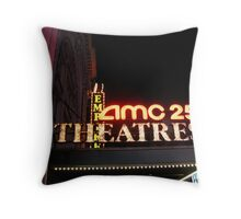AMC 25 Cinema Theatre (formerly the Empire Theatre), 42nd Street, NYC, NY Throw Pillow