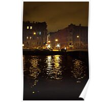 Canal at Night Poster