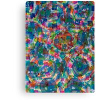 Circles And Squares under Clouds Canvas Print
